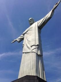view up at Cristo Redentor, Rio de Janeiro.