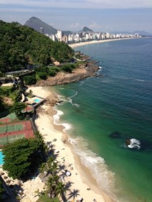 Beautiful beach in Rio.